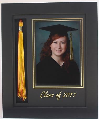 graduation tassel 5x7 picture frame black 2017 customizable - Diploma Frames With Tassel Holder