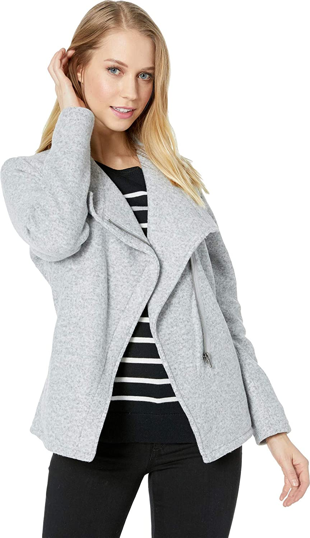 BB Dakota Womens Fleece in Mind Brushed Knit Zip Front Jacket BI402733