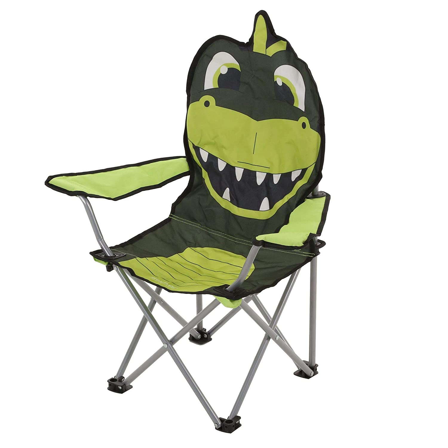 One Size Regatta Kids Lightweight Folding Animal Chair Dino//Green