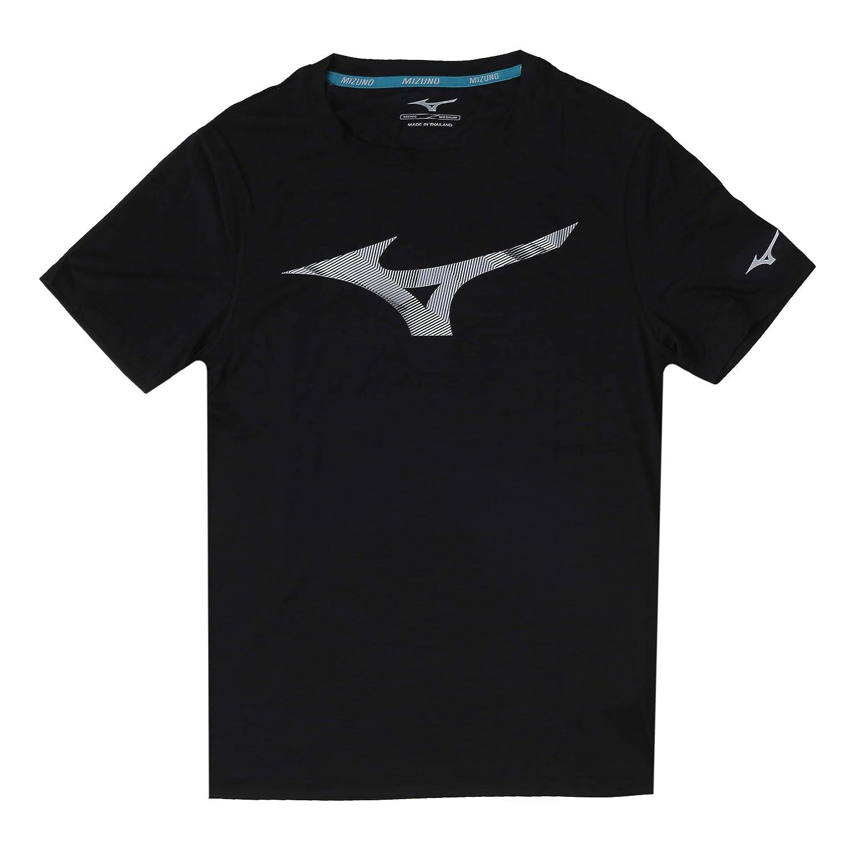 Mizuno Herren Impulse Core Graphic Rb Tee Laufbekleidung T-Shirt Schwarz - Grau XXL