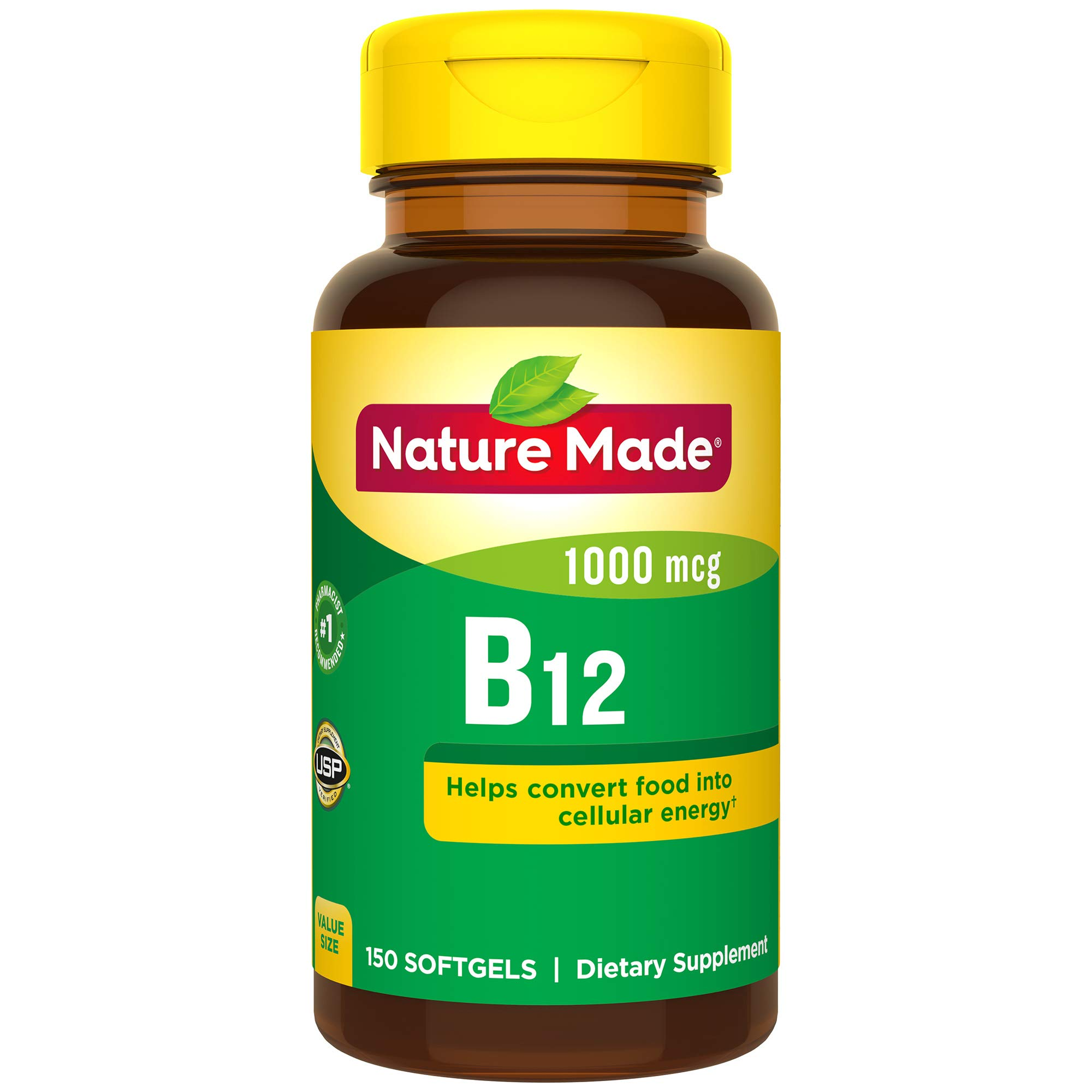 Nature Made Vitamin B12 1000 mcg. Softgels Value Size 150 Ct