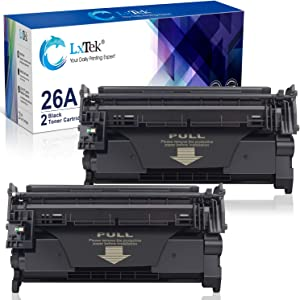 LxTek Compatible Toner Cartridge Replacement for HP 26A CF226A 26X CF226X to use with Laserjet Pro M402dw M402dn M402n MFP M426fdw M426fdn M402dne M426dw Printer (2 Black)