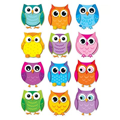 Carson Dellosa – Colorful Owls Colorful Cut-Outs, Classroom Décor, 36 Pieces: Carson-Dellosa Publishing: Office Products