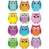 Carson Dellosa – Colorful Owls Colorful Cut-Outs, Classroom Décor, 36 Pieces