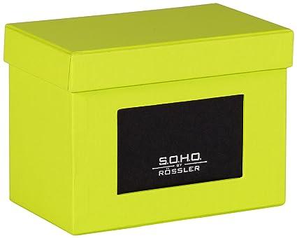 Rössler SOHO - Archivador para fotos (compartimento para etiqueta, 165 x 150 mm, A4), color verde