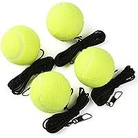 SCIONE pelota de tenis con cuerda de 4 unidades, pelota de tenis deportiva con cuerda elástica para entrenamiento de…