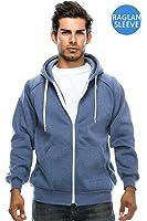Men's Raglan Hooded Unisex Zip-up Fleece Hoodie Jacket (Big Size upto 5XL)