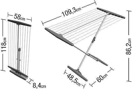 117 cm, tama/ño Grande Tendedero Plegable Dekorwelt Artweger