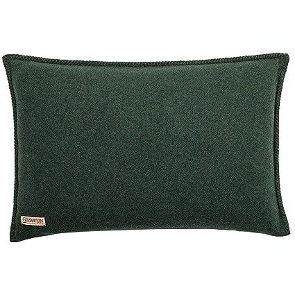 Giesswein Milena Funda de cojín Lana, Verde 47,3x22,7x5,5 cm ...