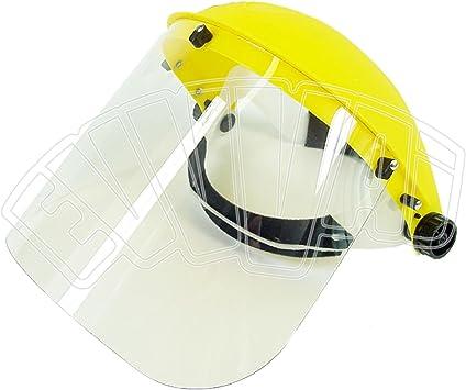 Artibetter 6Pcs Visiera di Sicurezza Riutilizzabile Visiera a Pieno Facciale Protezione Antipolvere Protezione Cappello Copricapo Protettivo