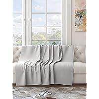 Saral Home 100% Cotton Unique Waffle Design Throw/Sofacover -140x160 cm