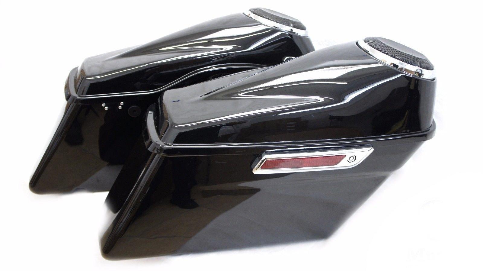 Complete 2014-UP Hard Saddlebags Saddle bag w/ 6.5'' Speaker Lids Harley Touring