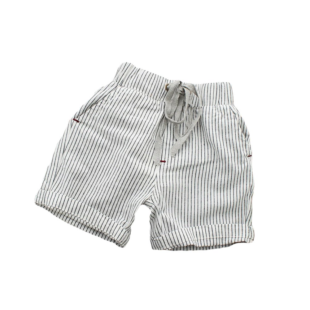 Taiycyxgan Baby Toddler Boys Shorts Kids Elastic Stripe Summer Short Pants Shorts