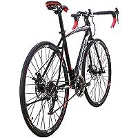 YH-XC550 Road Bike for Men and Women 49cm Frame Bicycle 700C Wheels 21 Speed Dual Disc Brake Commuter Bikes