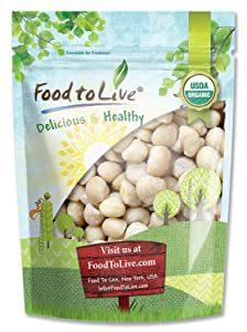 Food to Live Organic Macadamia Nuts (Raw) (4 Pound)