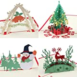 Amazon 3d christmas cards pop up greeting holiday cards gifts coogam pop up christmas card with envelope set of 4 handmade paper craft get well m4hsunfo