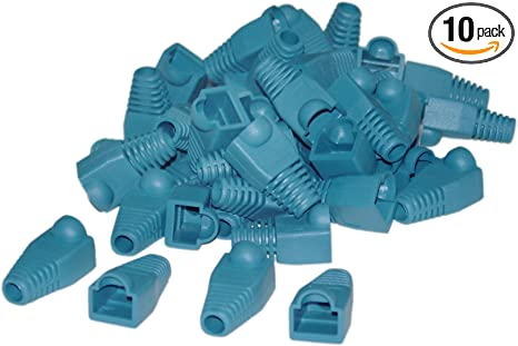 RJ-45 Boots for CAT5//5E//6 RJ-45  Blue  Pack of 20