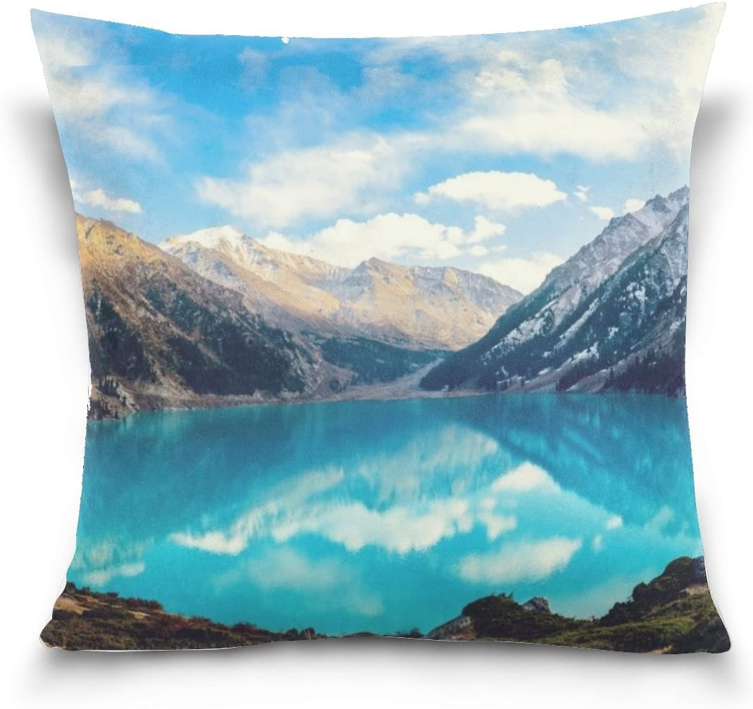 Tianyuss Views Surreal Landscapes Lake Natron Winter Light Sea Landscape Beautiful Nice Throw Pillow Case Decorative Cushion Cover Square Pillowcase Sofa Bed Pillowcase Cover18x18inch Twin Sides Amazon Co Uk Kitchen Home