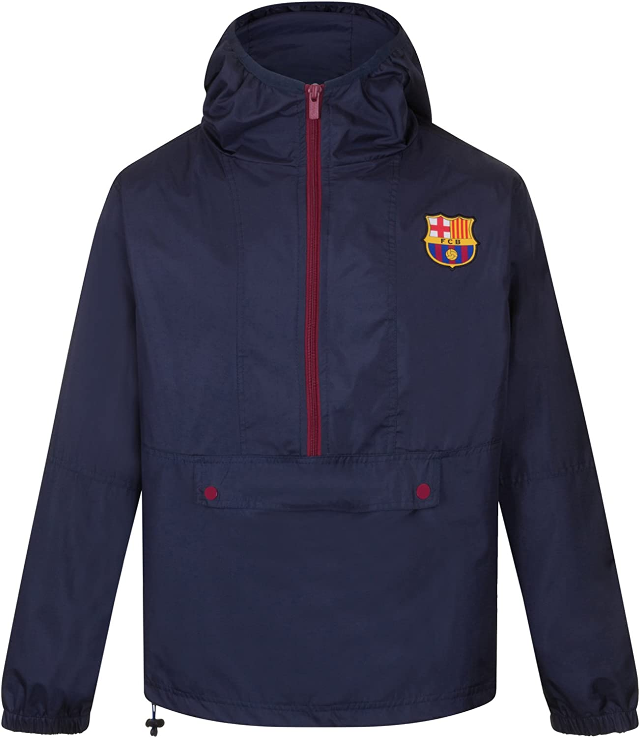Amazon Com Fc Barcelona Official Soccer Gift Mens Shower Jacket Windbreaker Clothing