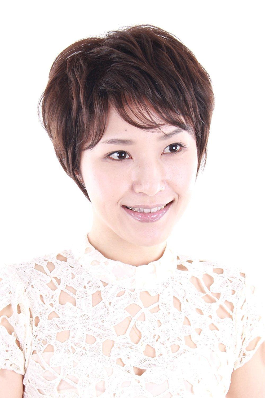 Igennki Hand Tied Monofilament Top Medical Wigs Short Curly Heat Resistant Fiber Wig For Asian Women+Free Wig Cap IH1002 (4 Dark Brown)