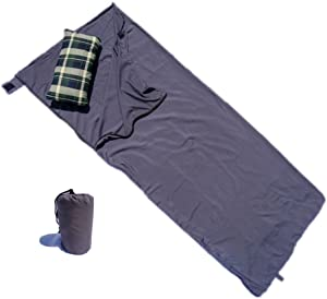 """Formosa Covers Ultra Lightweight Sleeping Bag Liner and Camping Sheet for Travel 33"""" W x 80"""" L Silk Like Material"""