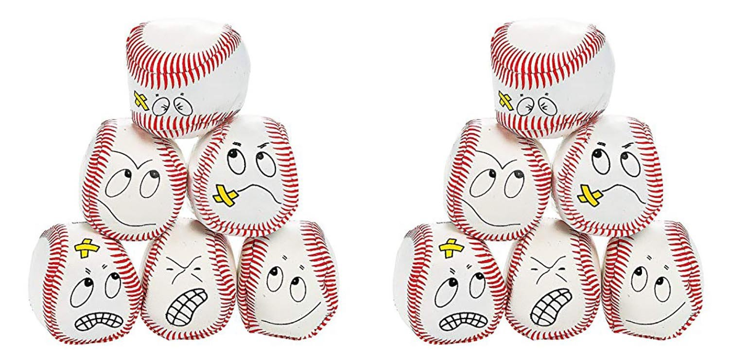Fun Express, 2 Set of 12 Baseball Kickballs Bundled by Maven Gifts