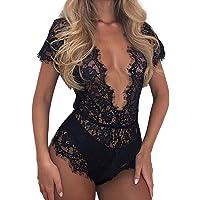 Women Lingerie Corset Lace Underwire Sleepwear Underwear Jumpsuits by Yeefant