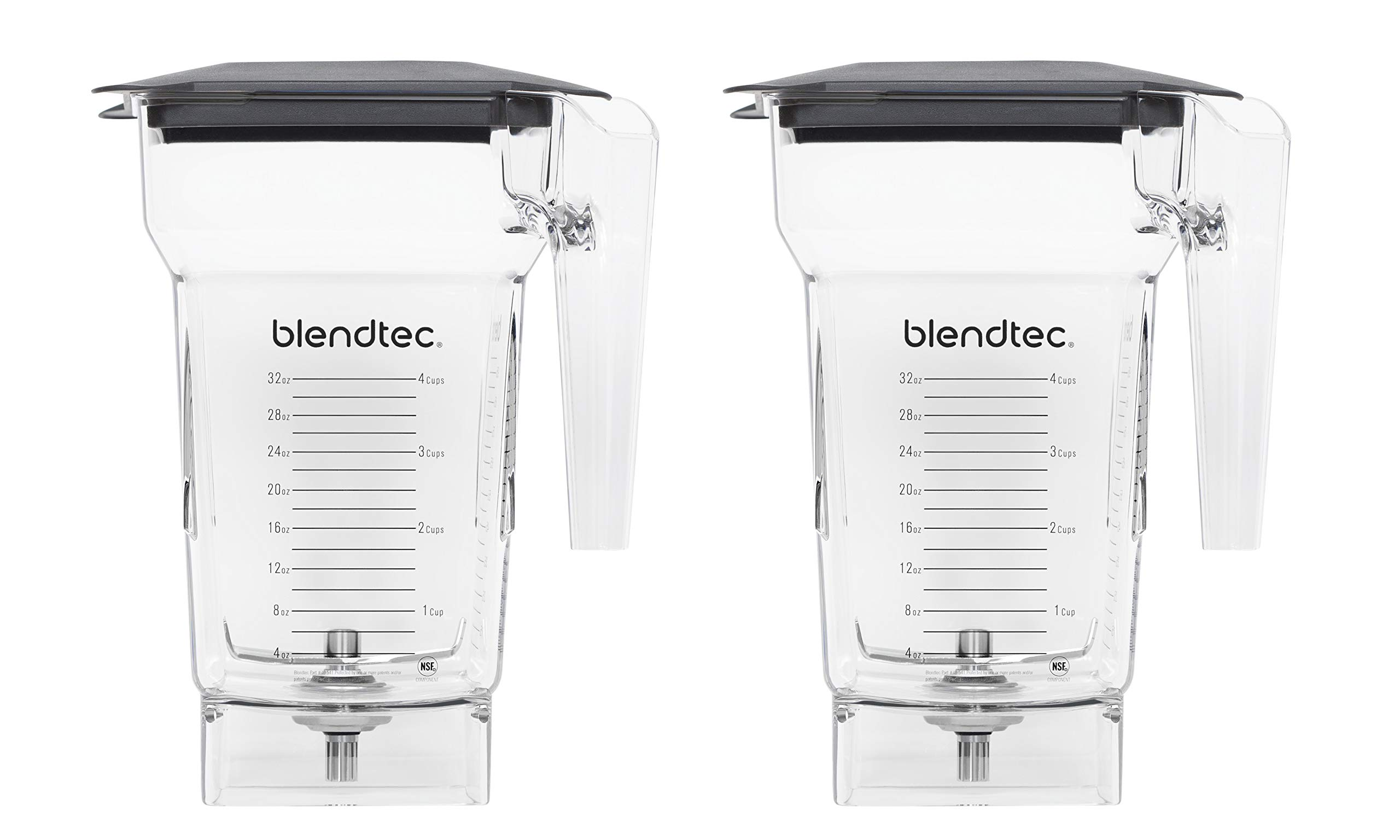 Blendtec 40-609-61-2 Clear FourSide Jar with Soft lid, Pack of 2, Clear (Pack of 2)