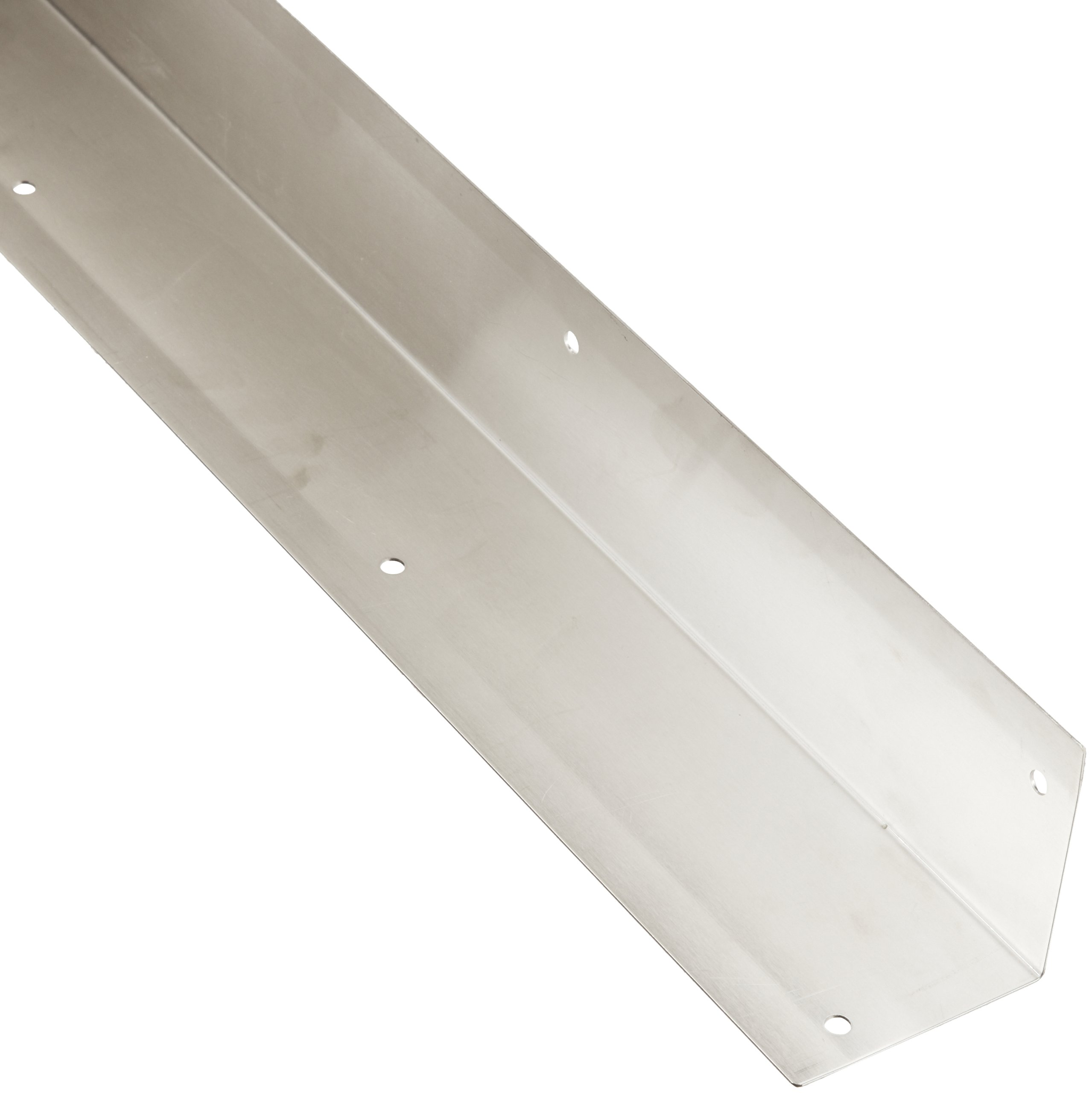 Rockwood 295.32D 3 X 3 X 40 Stainless Steel Square Corner Guard, 3'' x 3'' Edge, 40'' Height, Satin Finish