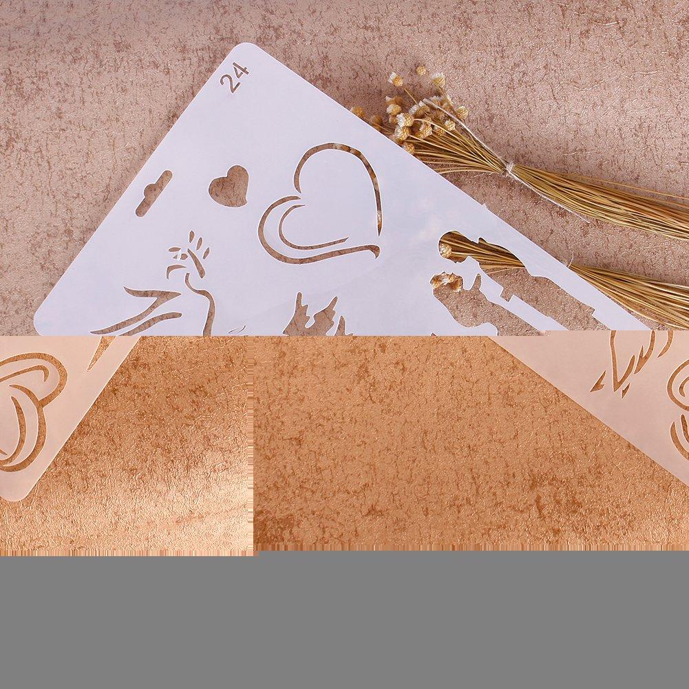 ZHUOTOP Different Pattern Airbrush Painting Stencil DIY Home Decor Scrapbooking Album Craft Art,24
