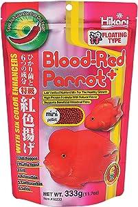 Hikari Blood Red Parrot+ Fish Food, Mini Pellets, 11.7 oz. (333g)