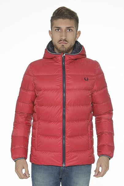 online retailer 4b172 08f36 Giacca Giubbotto Fred Perry Piumino Uomo rosso Men Jacket