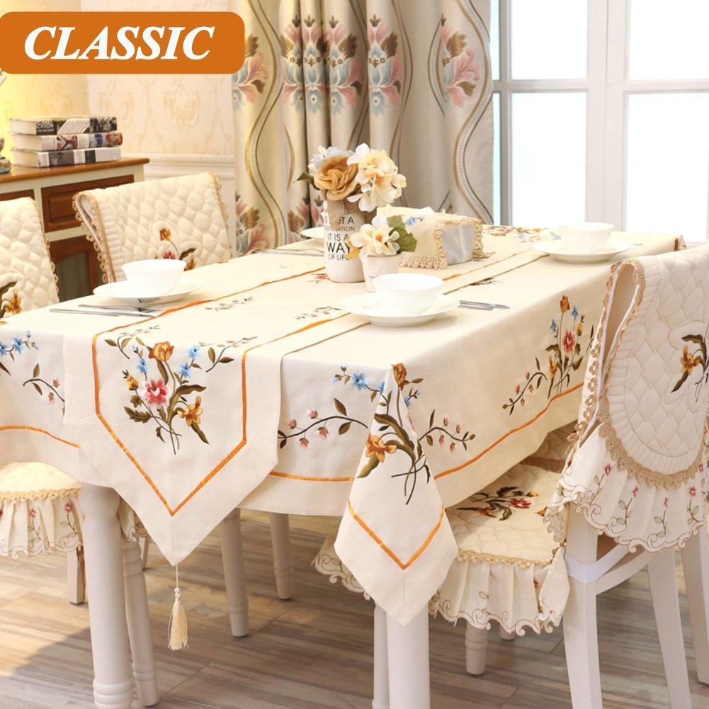 European tovaglia anti-Olio da tavola biancheria da tavola per home hotel cafe ristorante sala da pranzo-A 5587inch(140220cm)