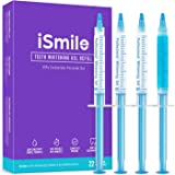iSmile Teeth Whitening Gel Syringe Refill Pack - (3) 3ml Whitening Gel Syringes, (1) Remineralization Gel Syringe, No Sensiti