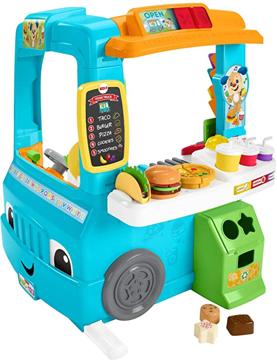 f93bacd38 Amazon.com: Fisher-Price Laugh & Learn Servin' Up Fun Food Truck: Toys &  Games
