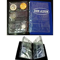 GOLD MINT Artificial Leather Mini Pocket Coin Penny Book Album-60 Holders
