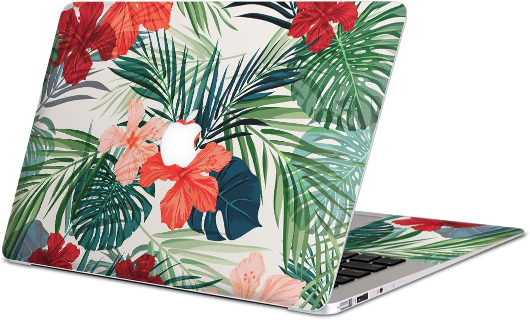 igsticker Skin Decals for MacBook Pro 15 inch 2019/18/17/16(Model A1990/A1707) Ultra Thin Premium Protective Body Stickers Skins Universal Cover Hibiscus Flower Plant