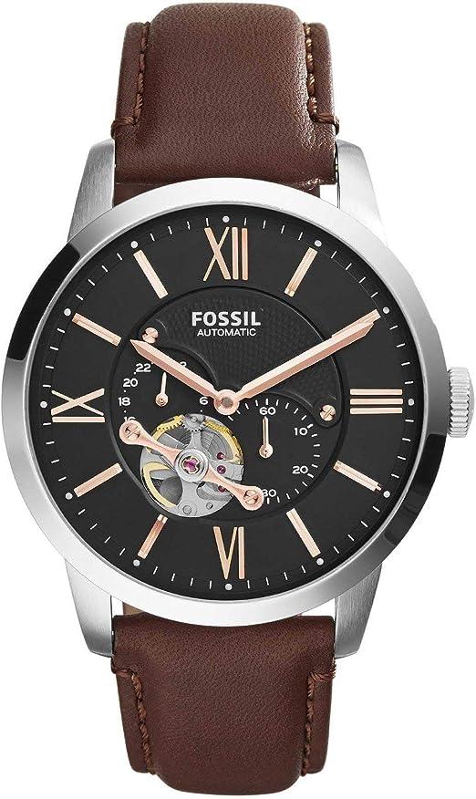 Orologio fossil townsman analogico automatico uomo con cinturino in acciaio inossidabile me3105
