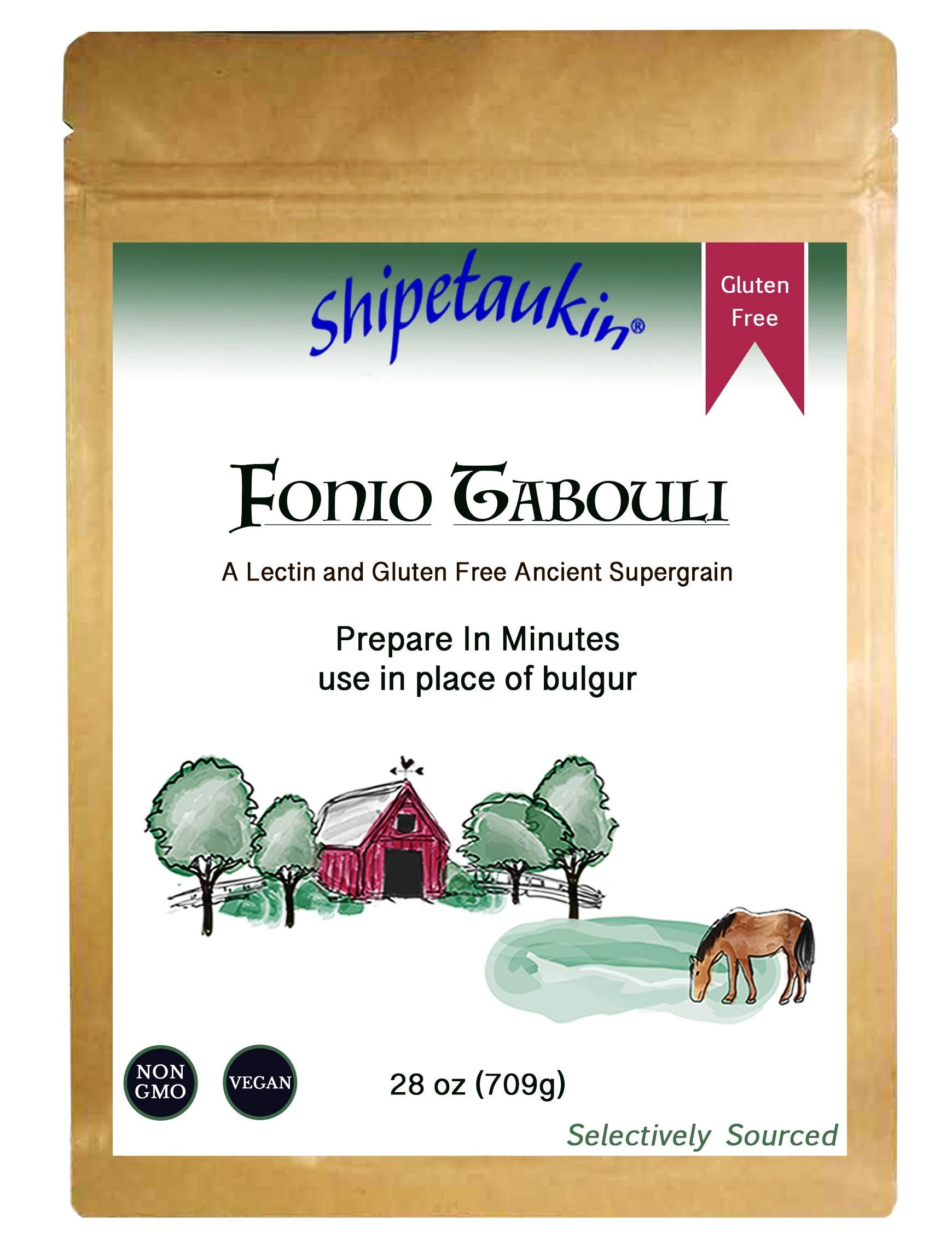 Shipetaukin Vegan Fonio Tabbouleh: a Gluten Free, Lectin Free Ancient African Whole Grain Supergrain, 28 Ounces by Shipetaukin