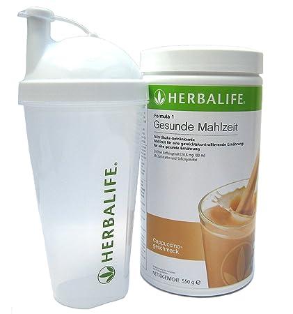 Herbalife Fomula 1 saludable comida café latte con coctelera