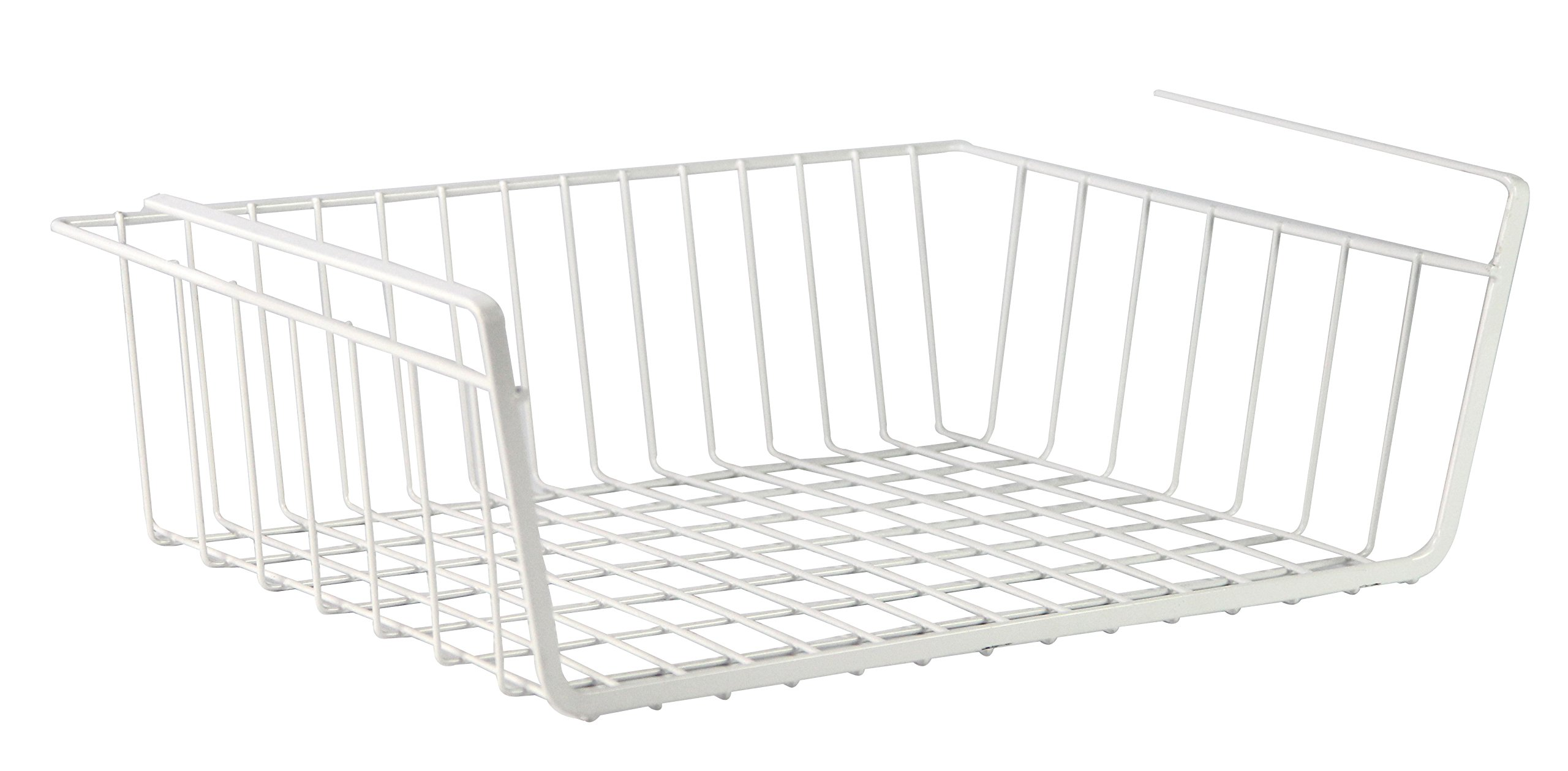 PAO MOTORING Under Shelf Storage Basket, 40 cm - White,Pack of 2