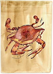 Caroline's Treasures 8154GF Crab Flag Garden Size, Small, Multicolor