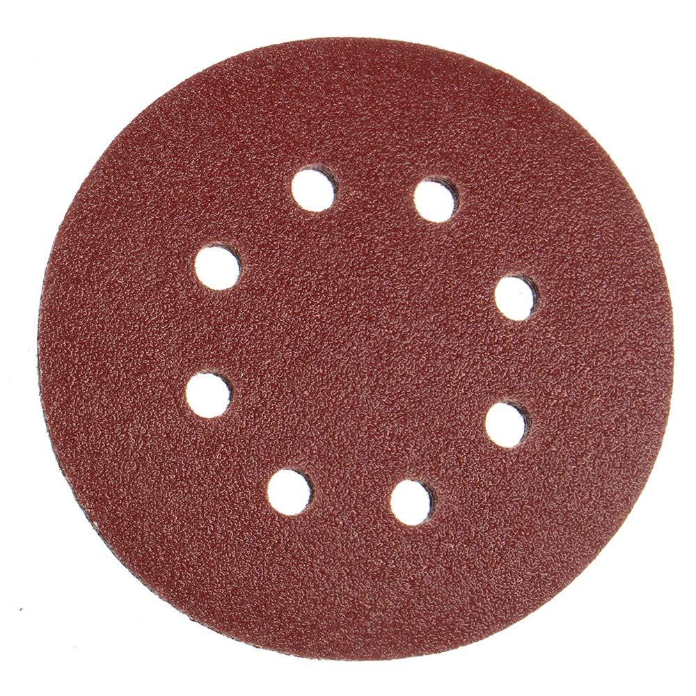 ExcLent 25Pcs 125Mm 8 Holes Hook Loop Sanding Discs 80 Grit Sander Pad Abrasive Tool