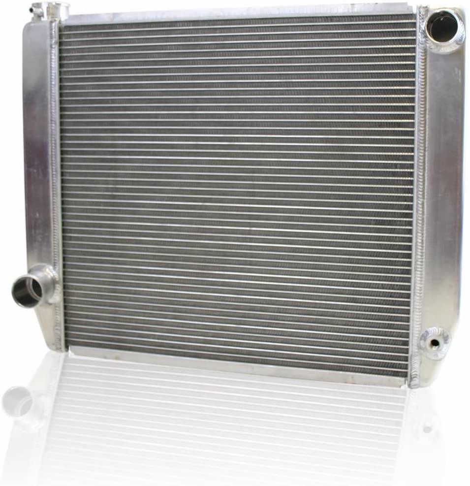 Bottom Griffin Radiator 1-25182-X ClassicCool 22 x 19 2-Row Universal Radiator with 1 Tube and Top Left Right Outlets