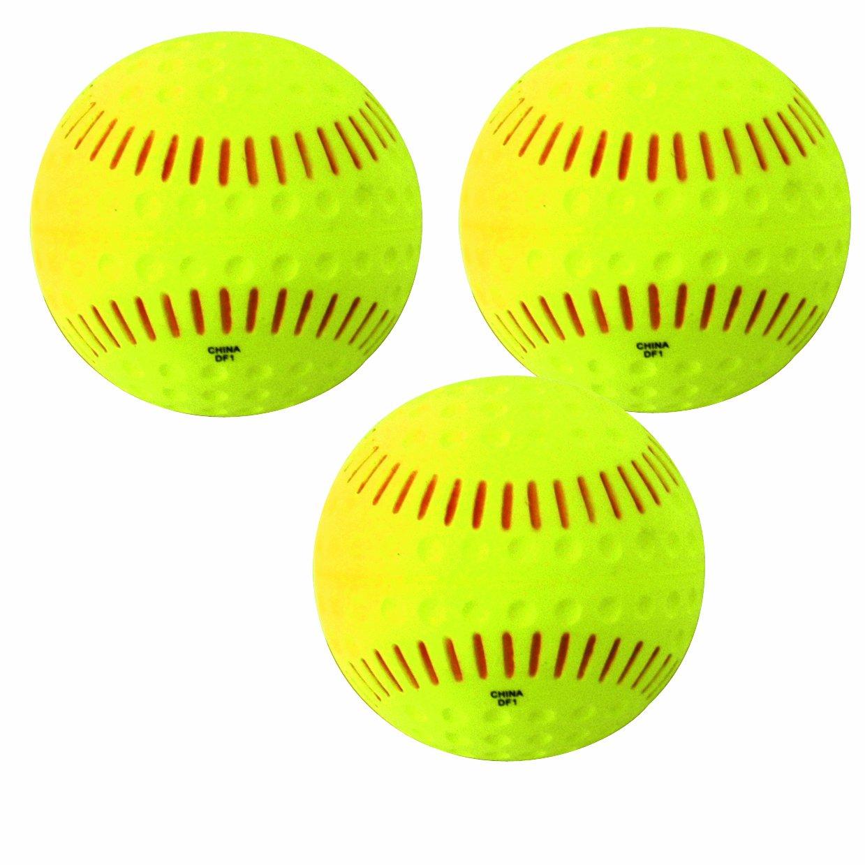 3Pk Baden Unisex Ssbr Feather Lite Softball Yellow