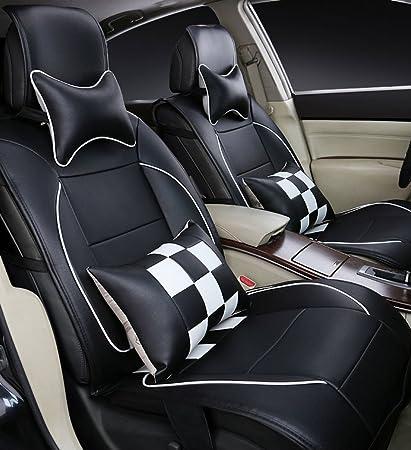 Cubiertas De Asiento De Coche Apto BMW Serie 3-Juego Completo Negro//Gris