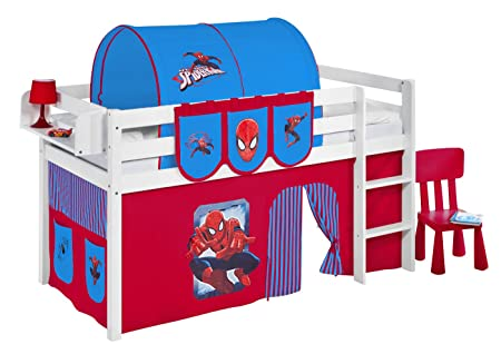 Jelle Spiderman Lilo Kids Bed Bunk Bed With Fun Playful Tent Cot