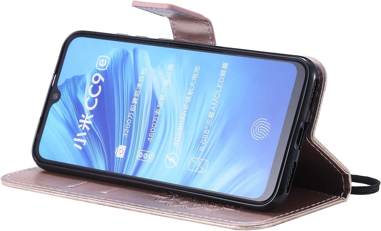NEKTU020497 Pink Shockproof Leather Flip Cover Case for Xiaomi MiA3 NEXCURIO Wallet Case for Xiaomi Mi A3 with Card Holder Side Pocket Kickstand