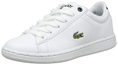 3ed1b00d6 Lacoste Unisex Kids  Carnaby Evo Bl 1 Spc Wht NVY Bass Trainers ...