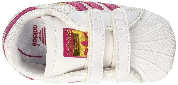 adidas Unisex Baby Superstar Crib Krabbel-& Hausschuhe, Elfenbein (FTWR White/Core Black/FTWR White), 17 EU